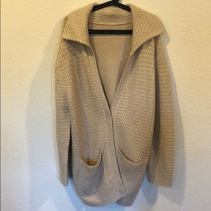 Cream and gold super soft cardigan sweater coat